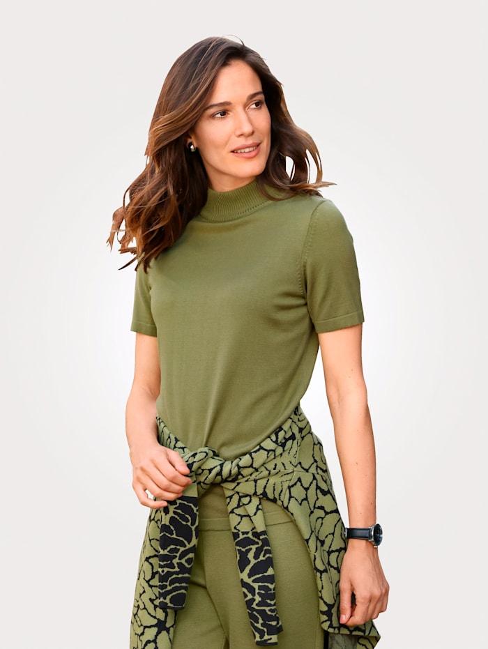 MONA Pullover in Feinstrick-Qualität, Pistaziengrün