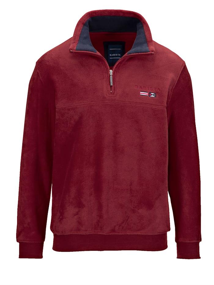 BABISTA Fleece-Sweatshirt, Bordeaux
