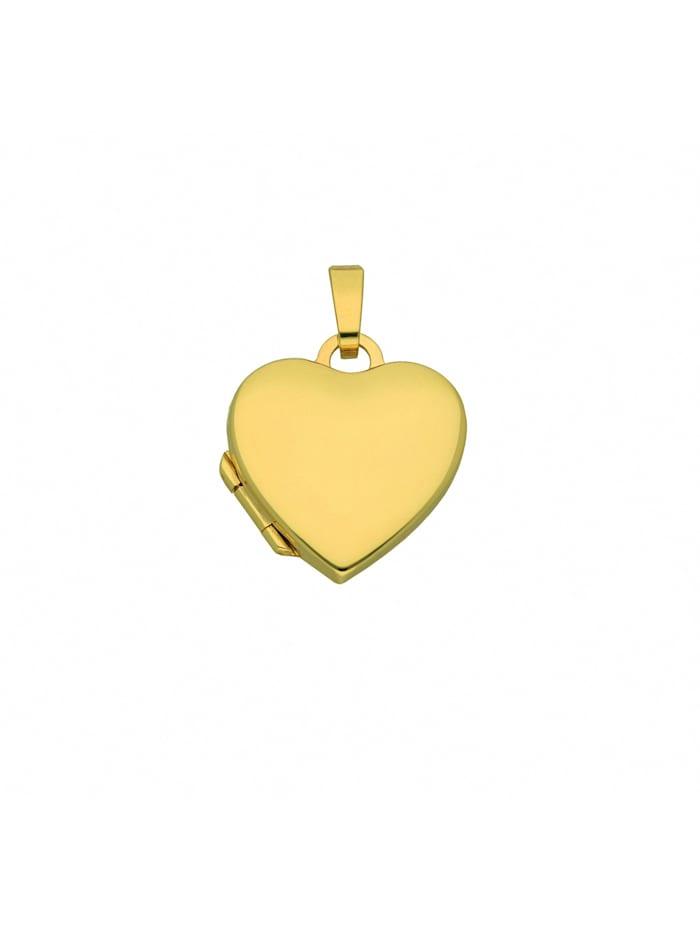 1001 Diamonds 1001 Diamonds Damen Goldschmuck 333 Gold Medaillon Anhänger, gold