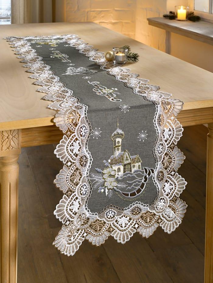 Webschatz Tischwäsche 'Yuki', silber