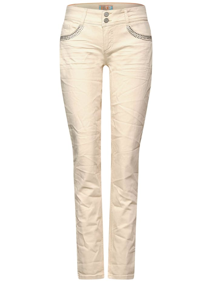 Street One Loose Fit Denim, natural off white