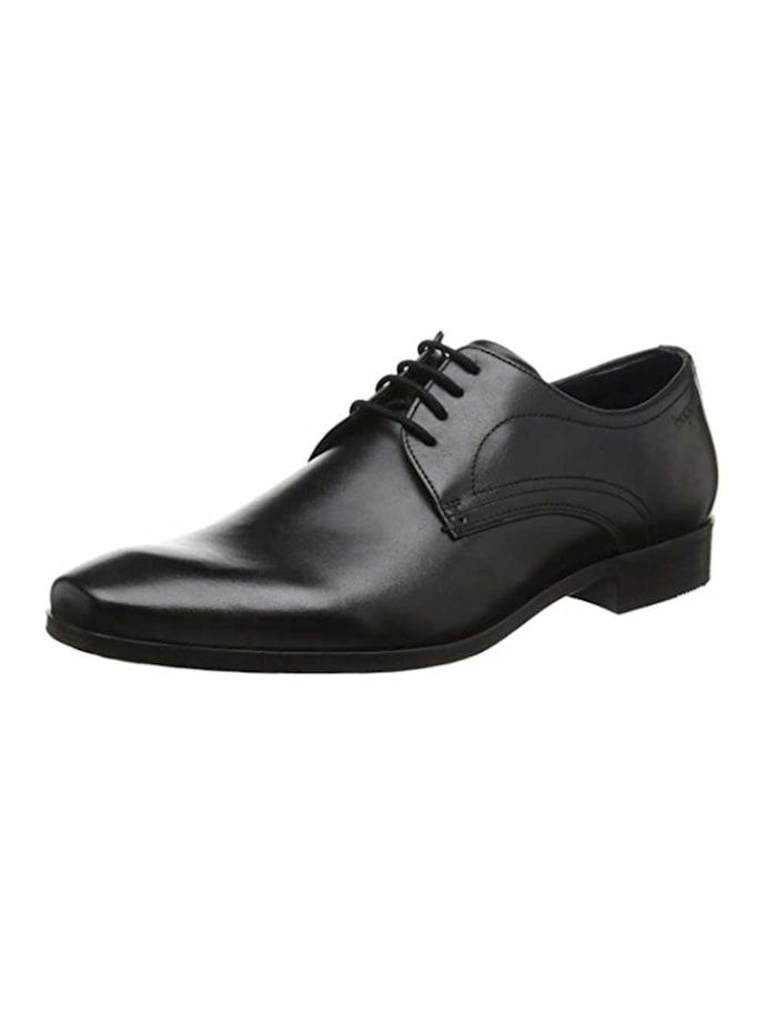 Bugatti Herren Schnürschuh in schwarz, schwarz