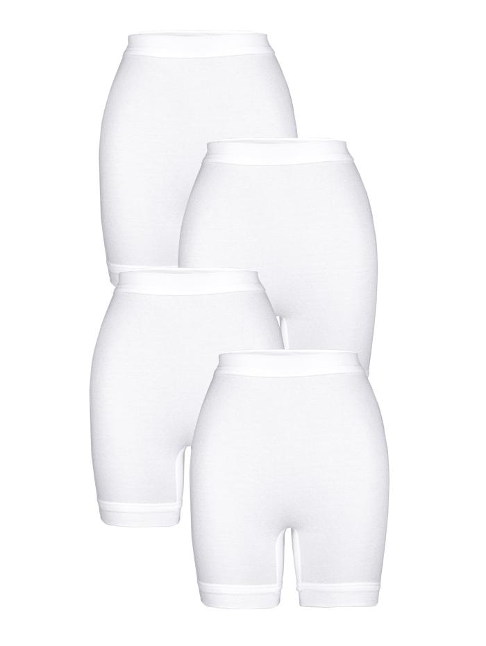 HERMKO Schlüpfer im 4er Pack, Weiß