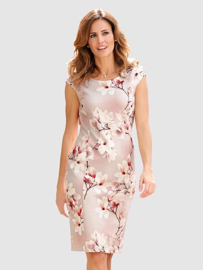 Fodralklänning med blommönster