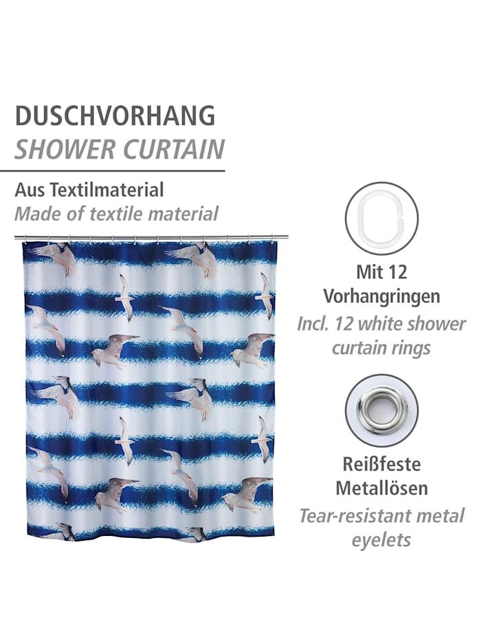 Duschvorhang Seagull, Textil (Polyester), 180 x 200 cm, waschbar