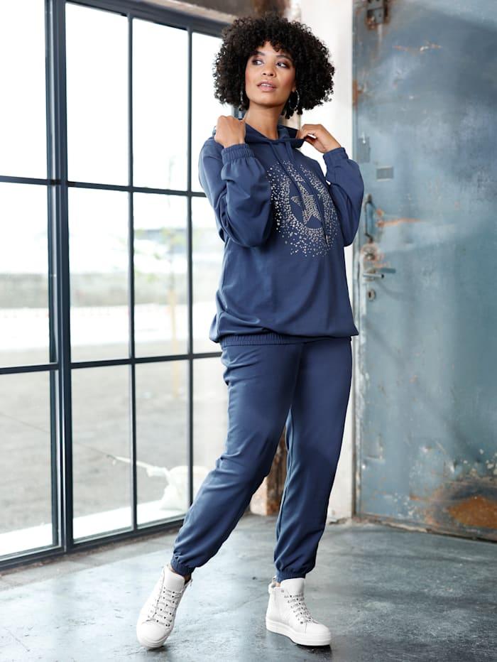 Angel of Style Sweatshirt mit Frontmotiv, Blau
