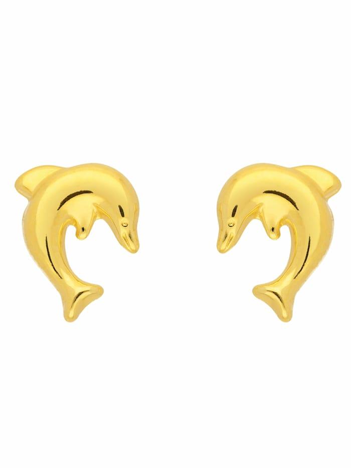 1001 Diamonds 1001 Diamonds Damen Goldschmuck 333 Gold Ohrringe / Ohrstecker Delphin, gold