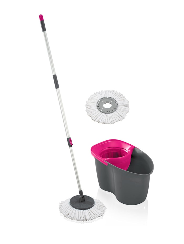 Leifheit LEIFHEIT Set 'Rotation Disc Mop 60 Years Edition', pink/grau