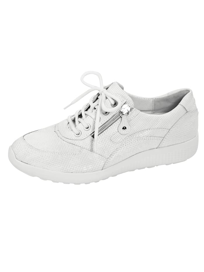 Waldläufer Lace-up shoes with a comfortable EVA sole, White
