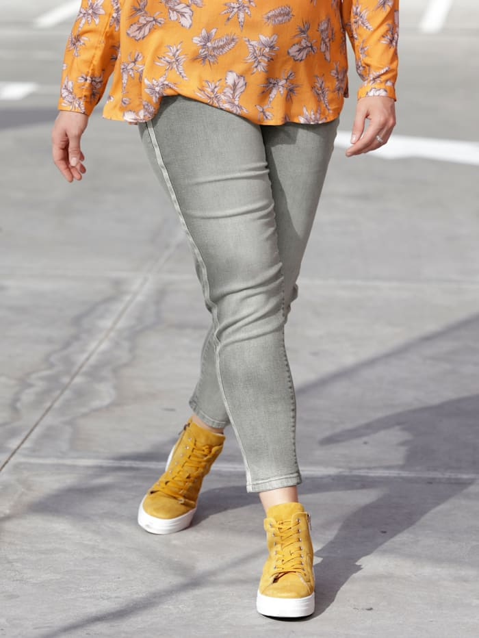 Janet & Joyce Jeans Slim Fit, Hellgrau