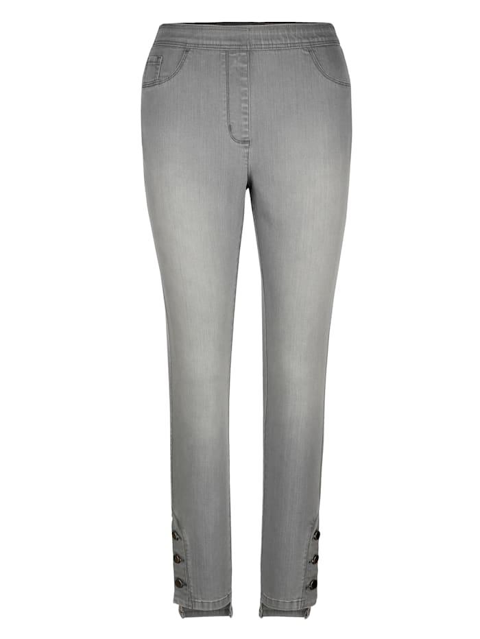MIAMODA Jeggings mit extra breitem Dehnbund, Grey