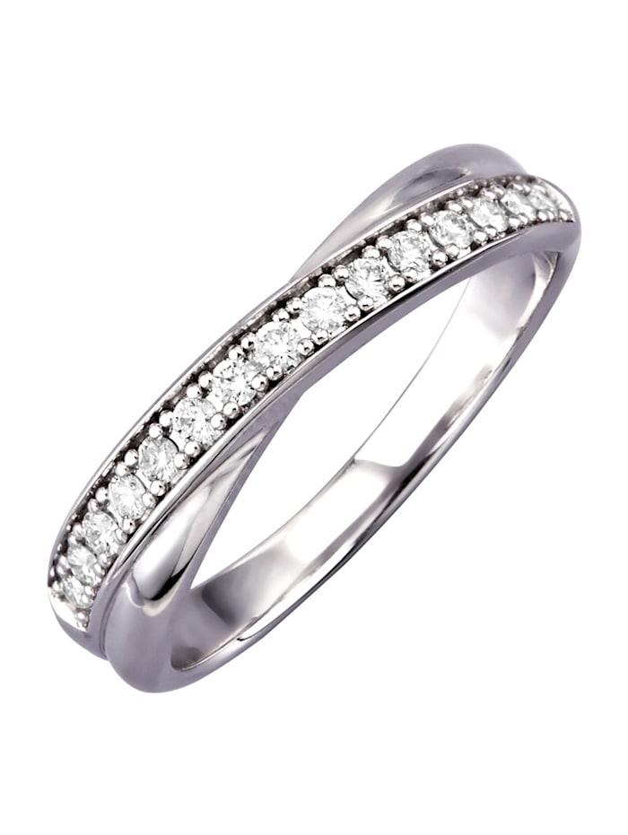 Diemer Diamant Ring med briljanter, Vit