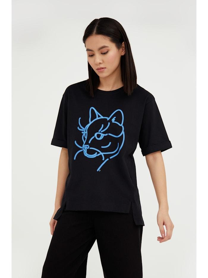 Finn Flare T-Shirt mit lockerer Schnittform, black