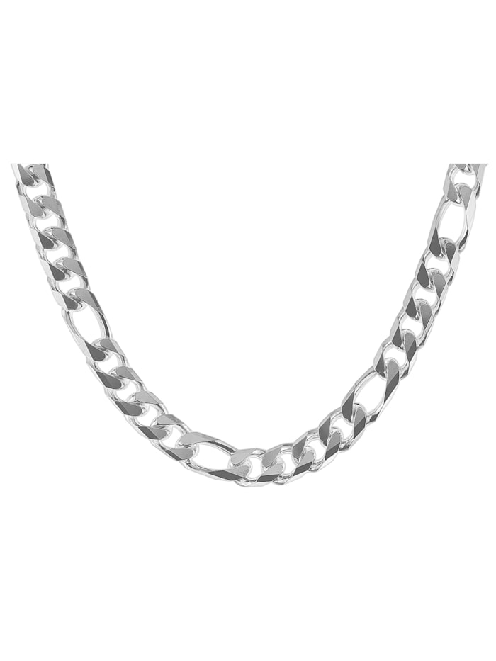 Halskette für Männer Silber 925 Figaro Breite 7,9 mm