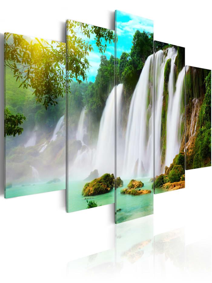 artgeist Wandbild Nature's miracle, Türkis,Schwarz,Braun,Grün,Himmelblau,Weiß