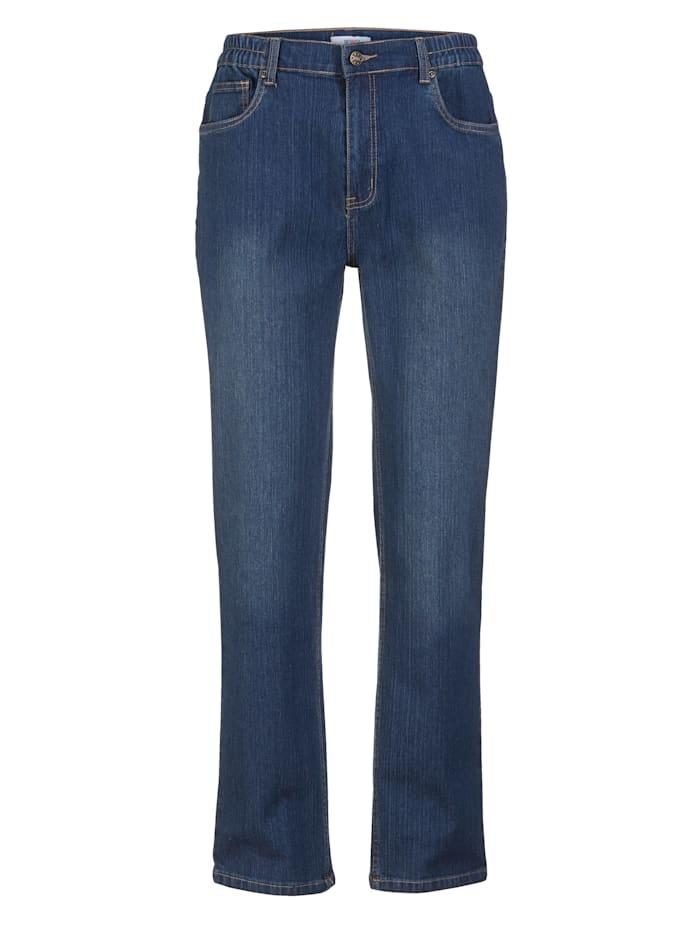 Roger Kent Jeans med komfortresår i sidorna, Dark blue