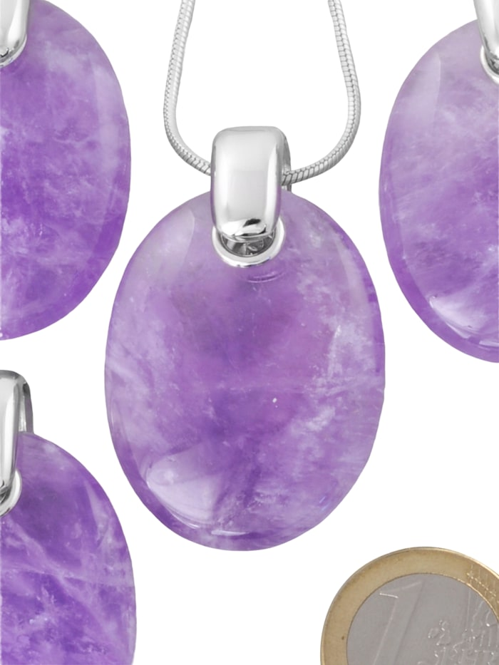 1001 Diamonds Damen Schmuck Edelstein Amethyst Anhänger 925 Silber violett, violett