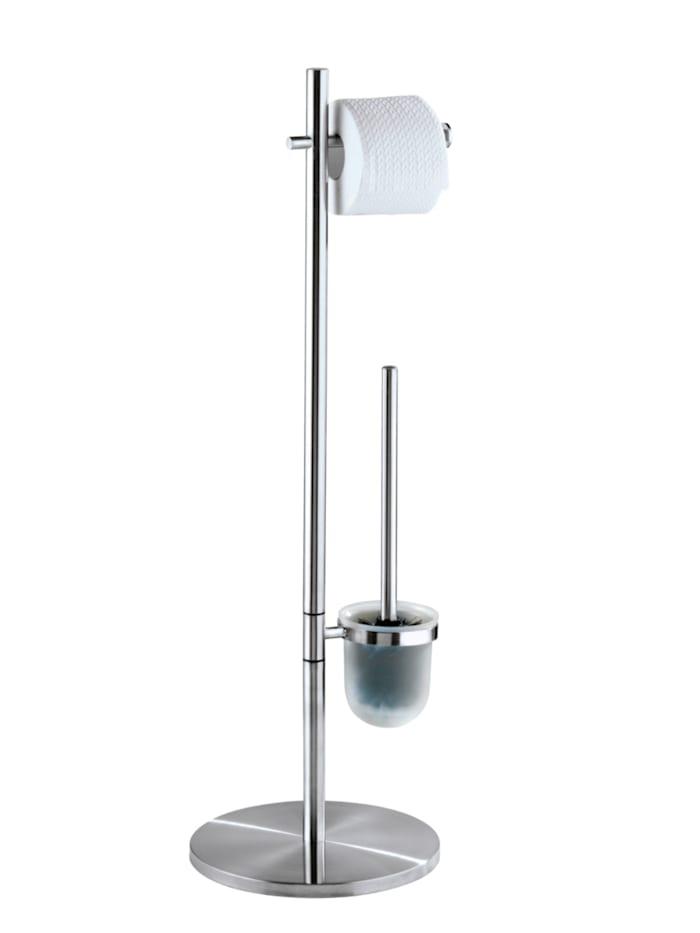 Wenko Stand WC-Garnitur Pieno Edelstahl, Edelstahl rostfrei, Satiniert, Einsatz: Satiniert