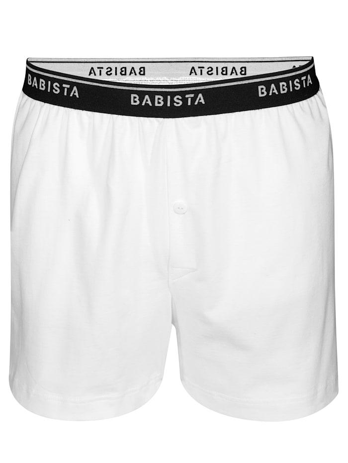 BABISTA Boxershorts, Weiß/Marineblau/Schwarz