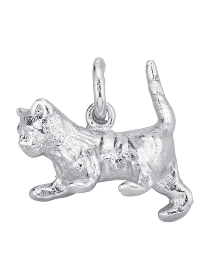 Diemer Highlights Hanger Kat van echt zilver, Zilverkleur