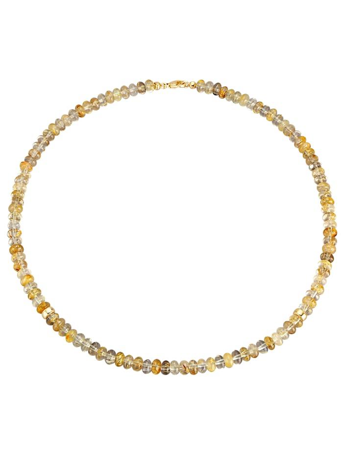 Halskette aus Rutilquarz-Rondellen