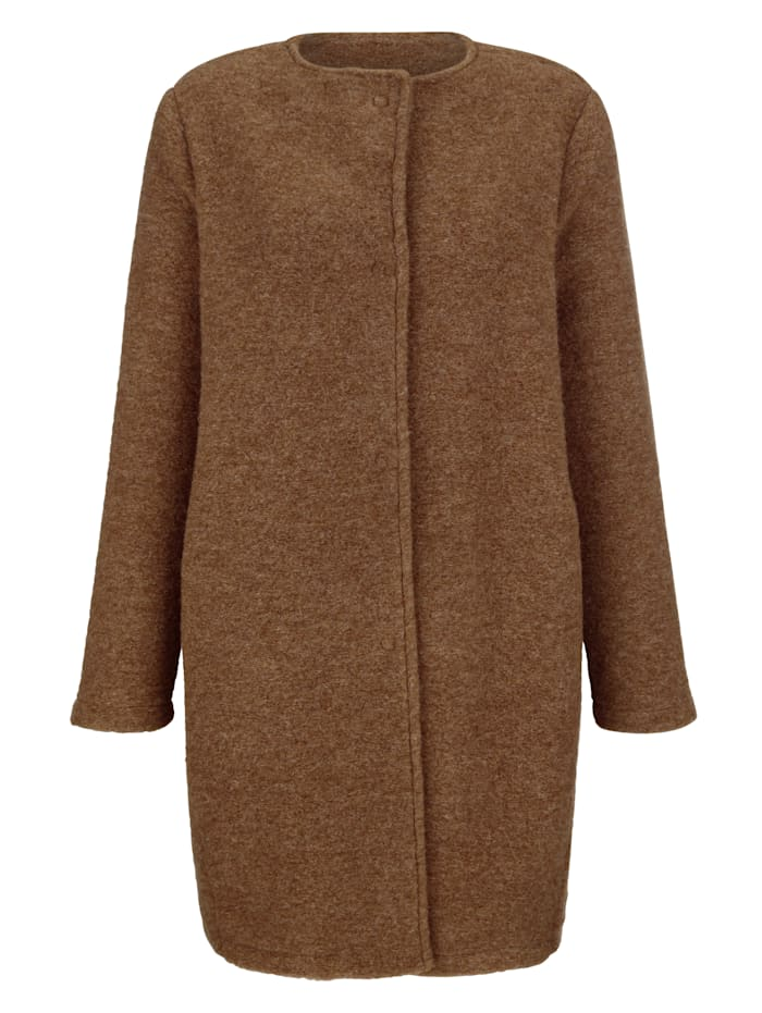 Alba Moda Kabát z vlny s možností vyvářky, Velbloudí