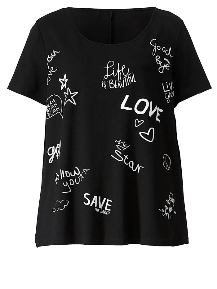 Shirt mit Schriftzügen