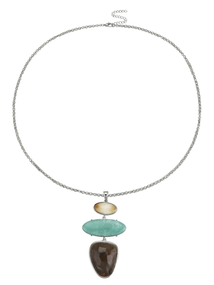 Hanger met ketting, Blauw/Bruin/Beige