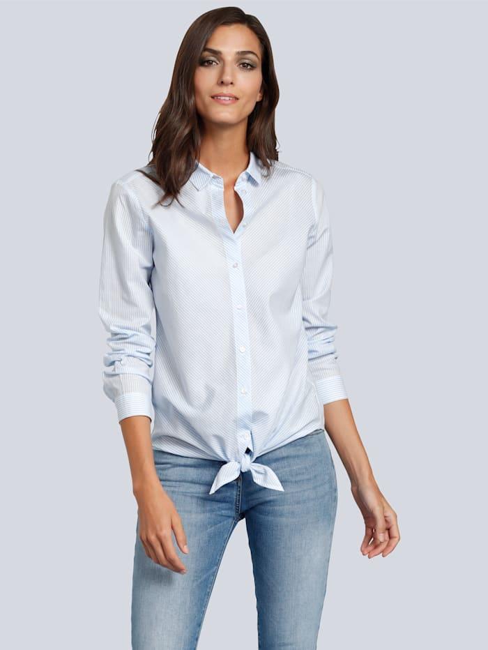 JETTE JOOP Bluse mit feinen Streifen, Weiß