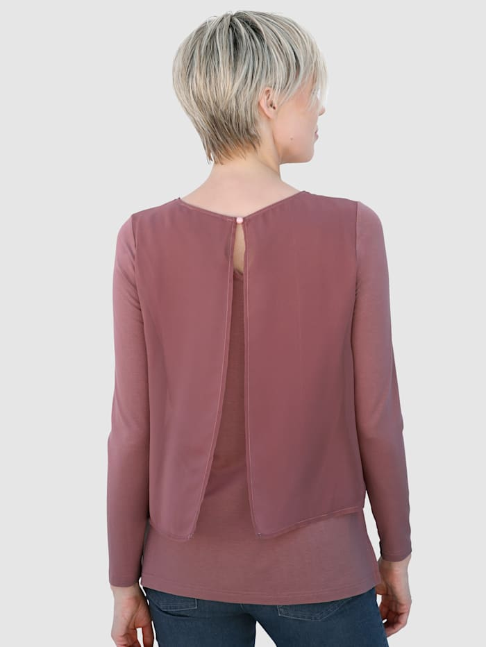 Blouse in modieuze, dubbellaagse look