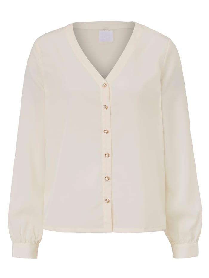 REKEN MAAR Bluse, Creme-Weiß