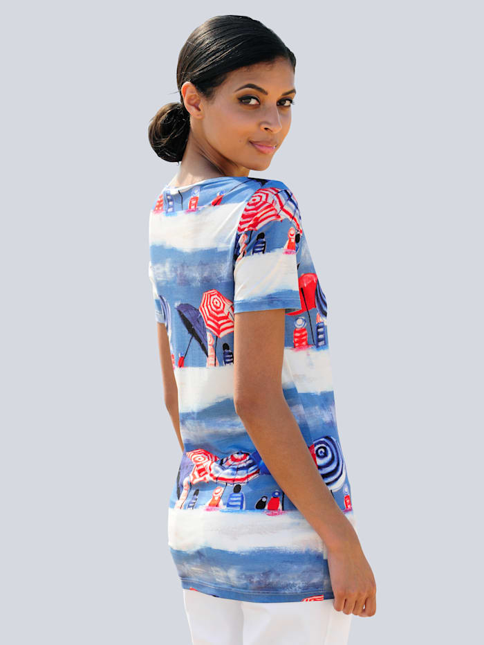 Strandshirt met zomerse print