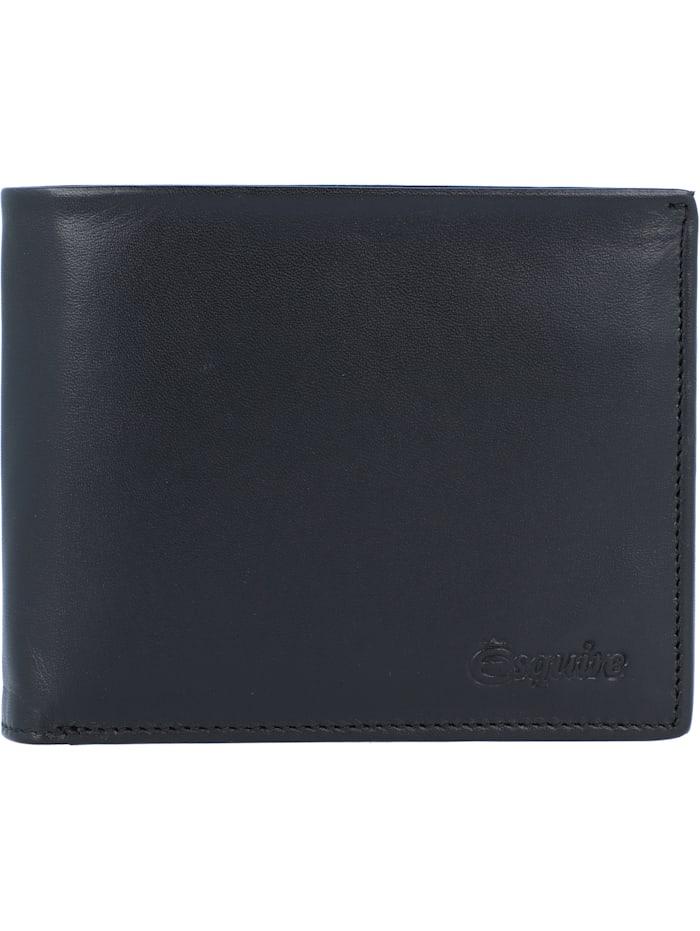 Esquire New Silk Geldbörse Leder 10,5 cm, schwarz