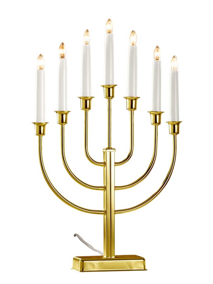 Star Trading Kerzenleuchter 7-flammig, Gold