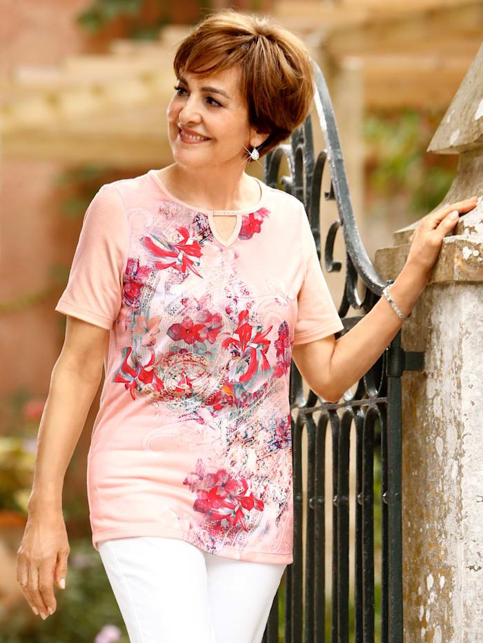 Paola Shirt mit Druckmotiv, Rosé