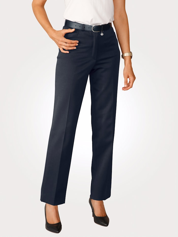 MONA Trousers with stretch, Navy