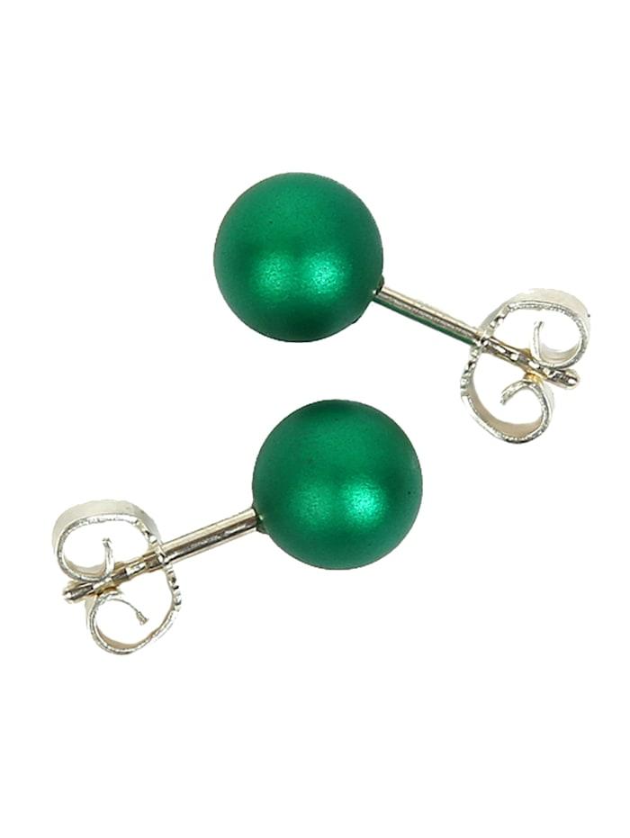 DeMarie Ohrstecker Metall 0,8cm Matt/Glanz, grün
