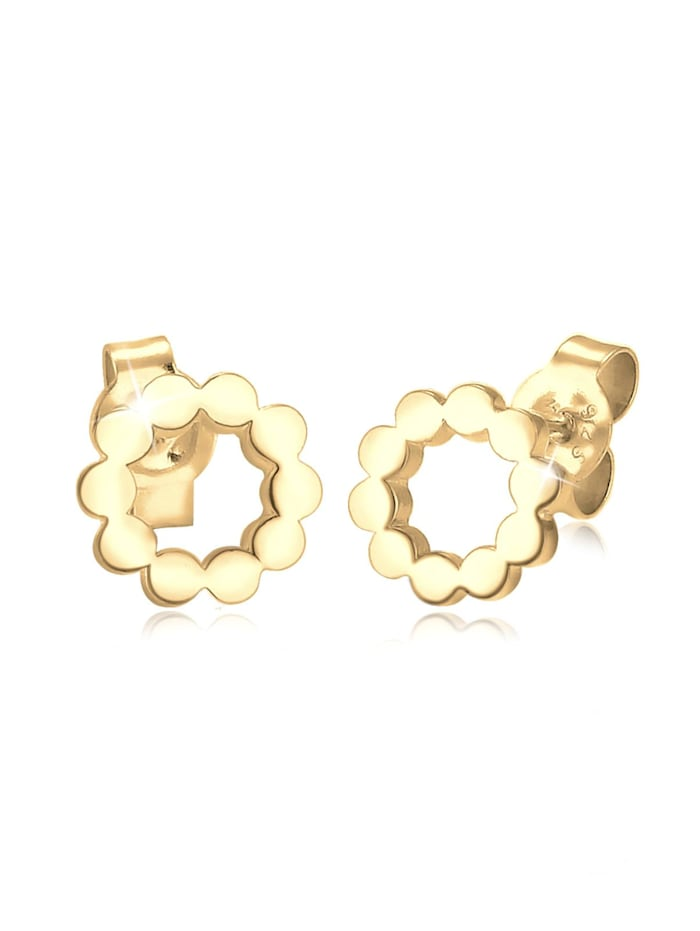 Elli Ohrringe Kreis Circle Geo Minimal 925 Sterling Silber, Gold