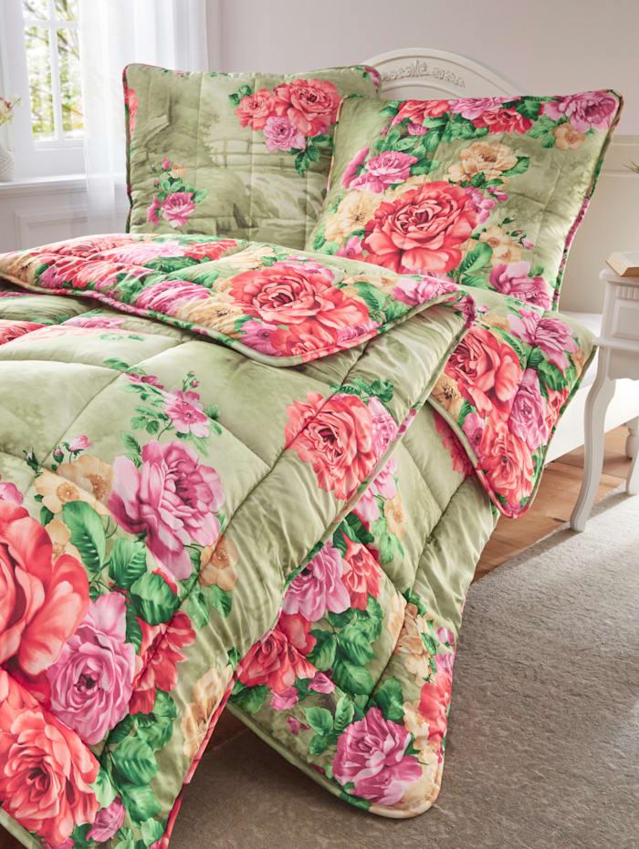 Kinzler Faser Bettenprogramm Rosalie, grün bunt