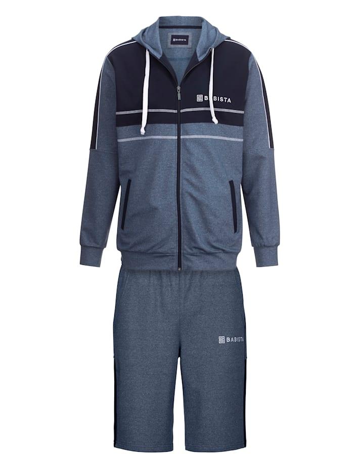 BABISTA Joggingpak met korte broek, Blauw
