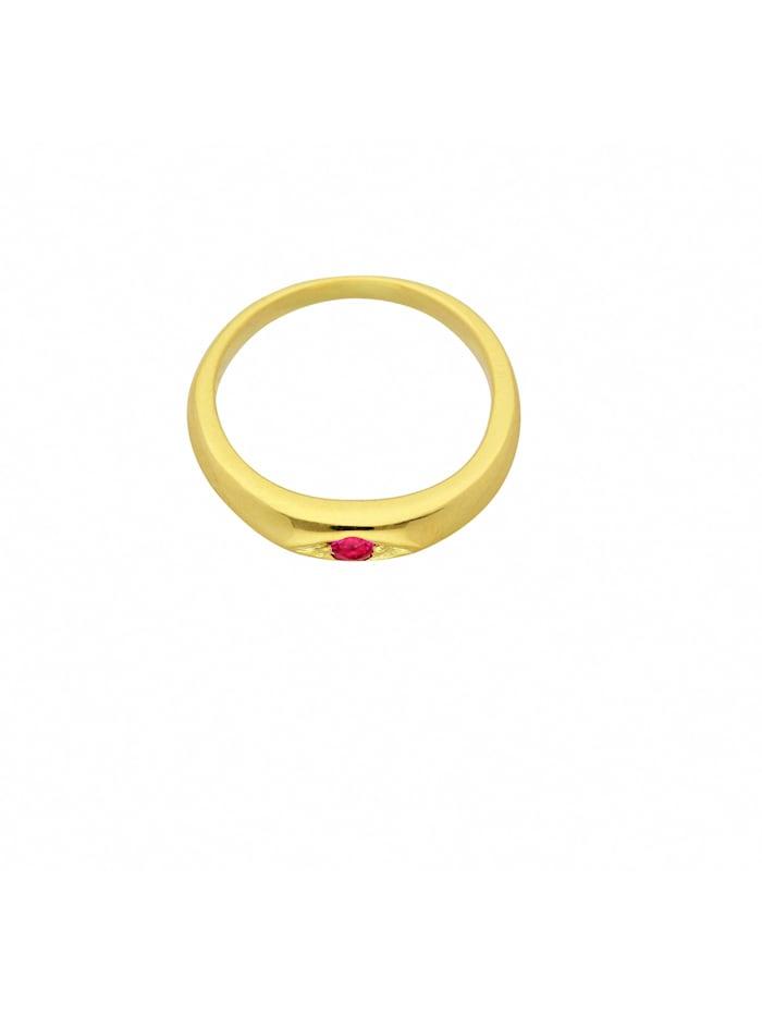 1001 Diamonds Damen Goldschmuck 585 Gold Anhänger Taufring mit Rubin Ø 10,1 mm, rot