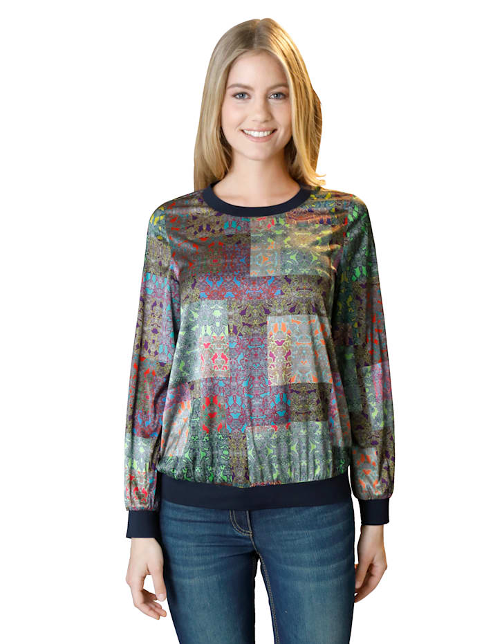AMY VERMONT Bluse mit Allover-Druck, Multicolor