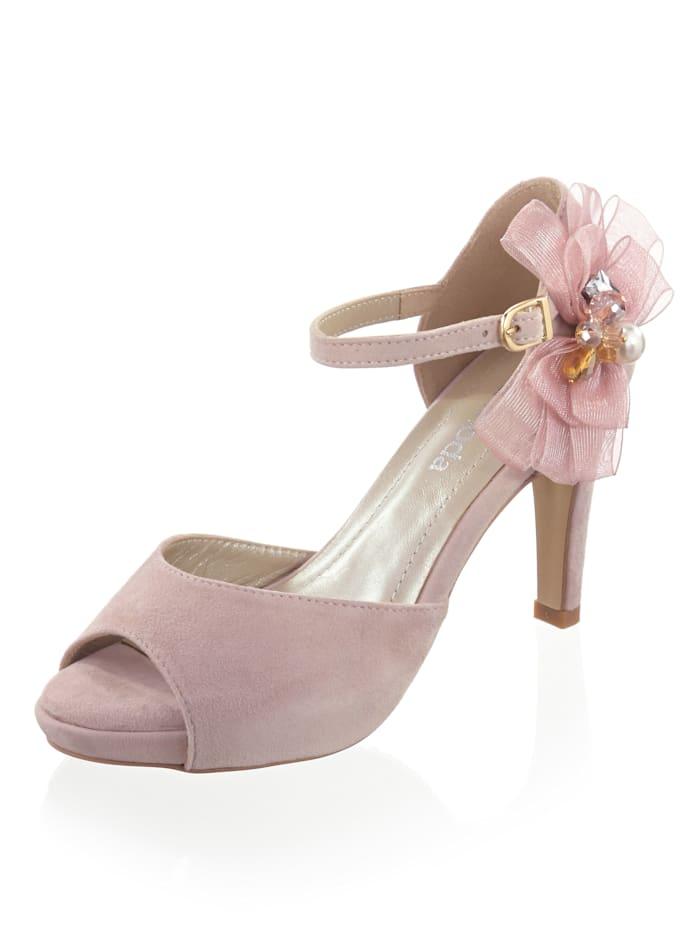 Alba Moda Sandalette mit Schmuckapplikation, Nude/Rosé