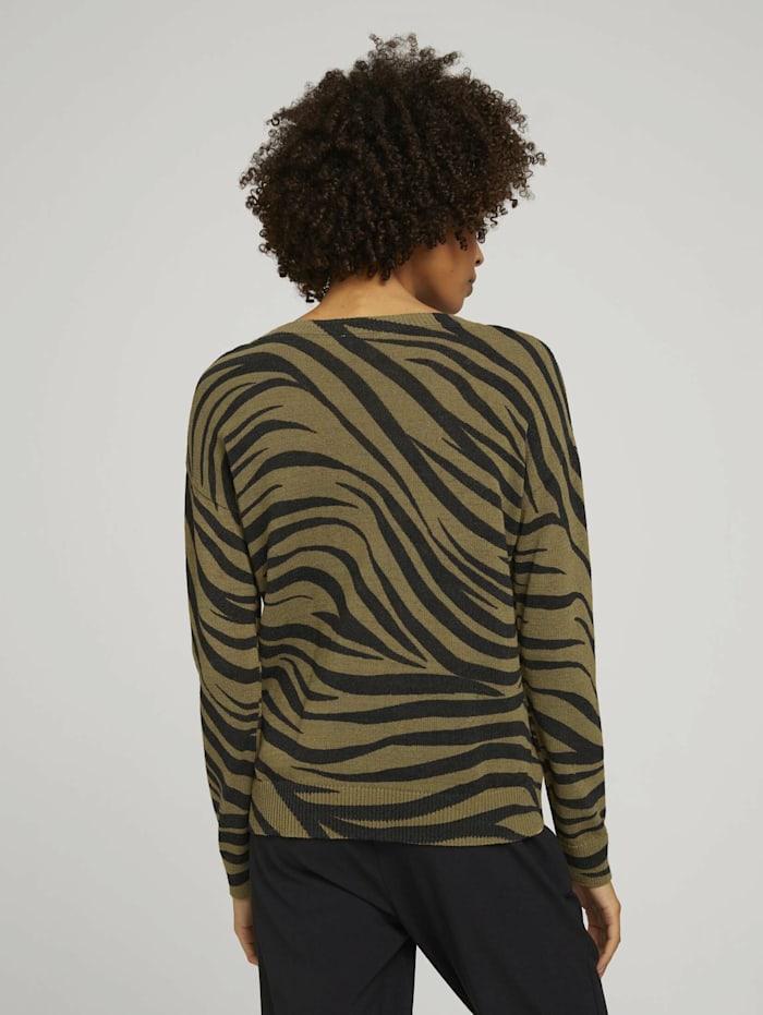 Pullover im Zebra-Muster