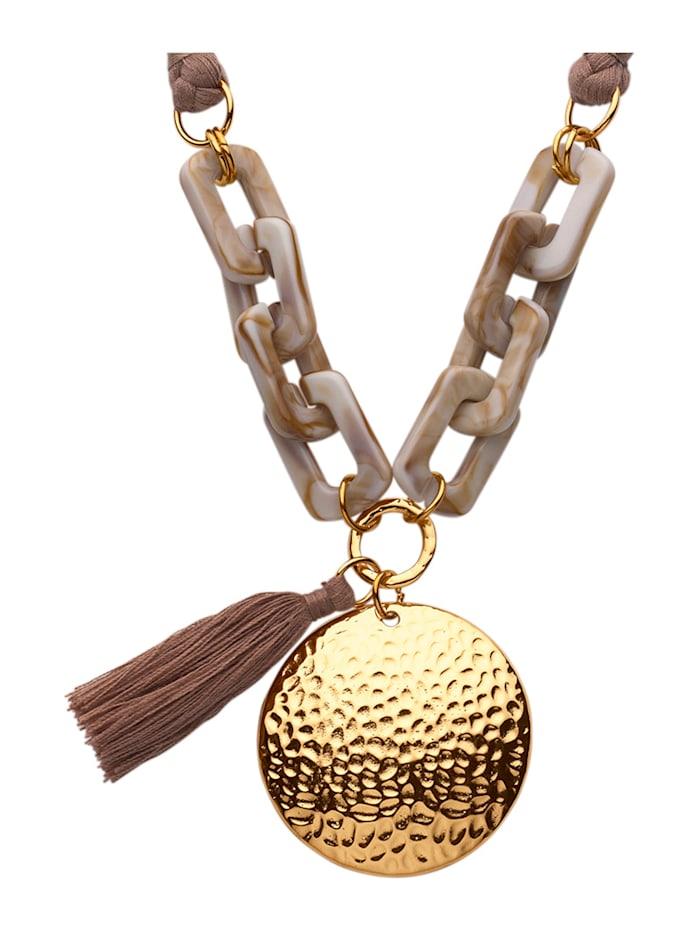 KLiNGEL Halskette mit Quaste, Beige