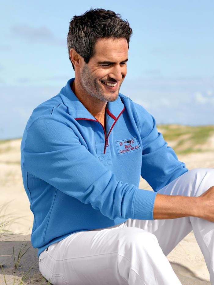 BABISTA Sweatshirt in feiner Ripp-Struktur, Blau