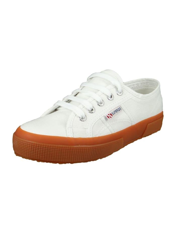 Superga Damenschuhe-Sneaker S000010-2750 COTU-Classic Textil weiß F95 White-Gum, F95 White-Gum