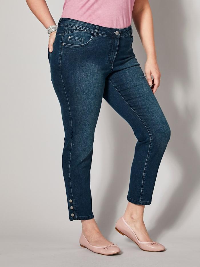 Sara Lindholm Slim Fit Jeans knöchellang, Blau