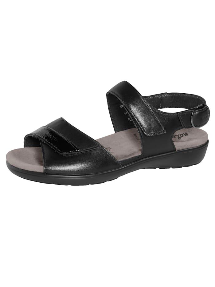 Naturläufer Sandale mit Luftpolsterlaufsohle, Schwarz