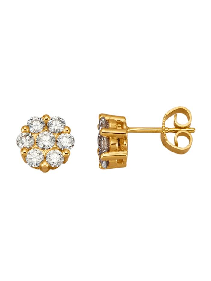 Diemer Diamant Ohrstecker mit lupenreinen Brillanten, Weiß